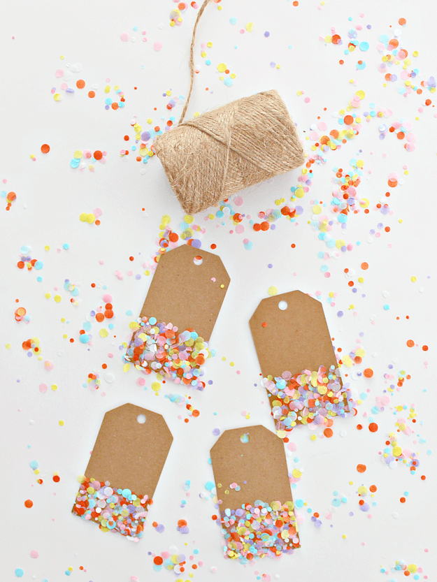 DIY confetti-inspired gift tags (via https:)
