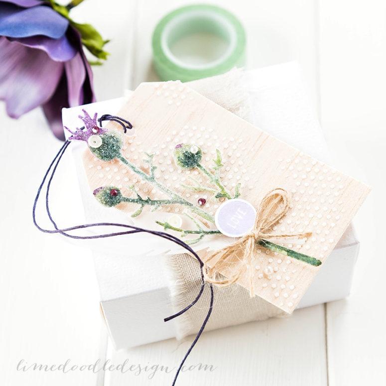 DIY thistle gift tags (via limedoodledesign.com)