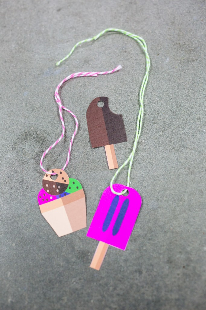DIY free printable ice cream cone gift tags (via https:)