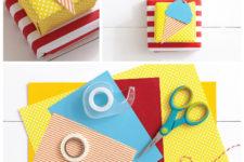 DIY ice cream wrap idea with a topper