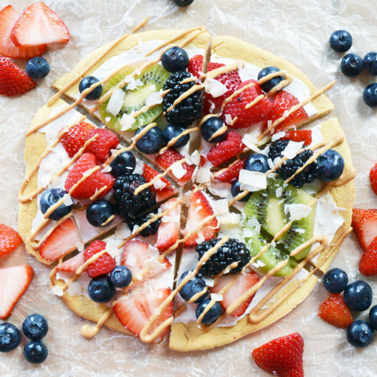 DIY berry gluten free chickpea crust pizza (via thecolorfulkitchen.com)