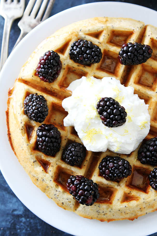 DIY lemon poppy seed waffles (via https:)