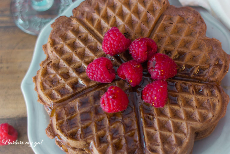 DIY gluten and dairy free chocolate waffles (via nurturemygut.com)