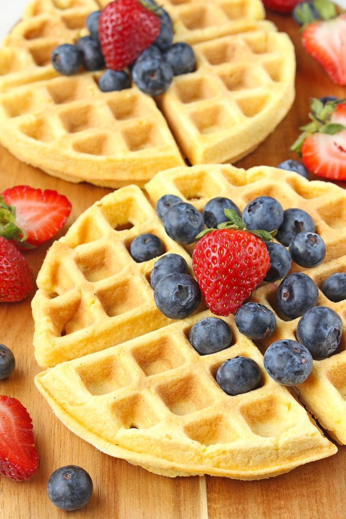 DIY fluffy coconut flour waffles (via katalysthealthblog.com)
