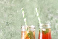 DIY iced pomegranate tea