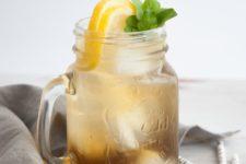 DIY double mint iced tea