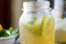 DIY mint ginger iced tea