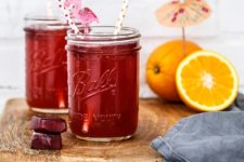 DIY hibiscus iced tea