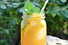 DIY orange vanilla iced tea