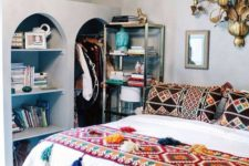 02 a boho crocheted bedspread with large tassels will make your bedroom vivacious