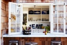 02 a simple window and an outdoor windowsill to use it as an outdoor bar or breakfast space