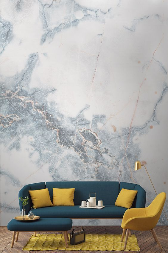 adorable faux marble wallpaper creates a gorgeous ambience and makes any space refined
