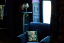 06 a moody navy velvet chair will fit a dark and decadent space