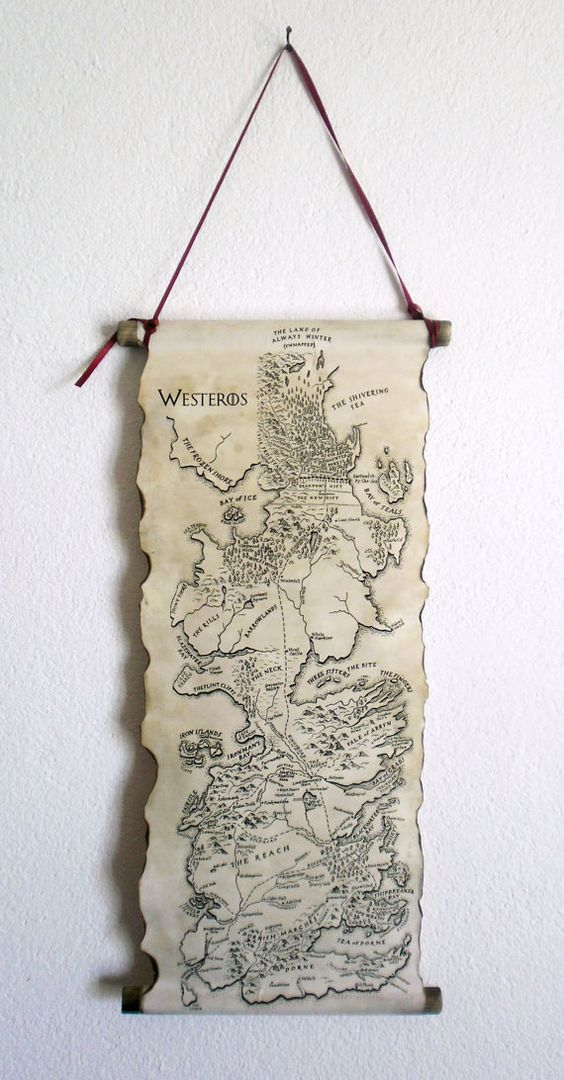 Game of Thrones map wall art decoration to spruce up any wall