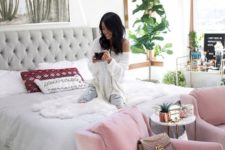 09 pink velvet chairs to add a girlish feel to your bedroom