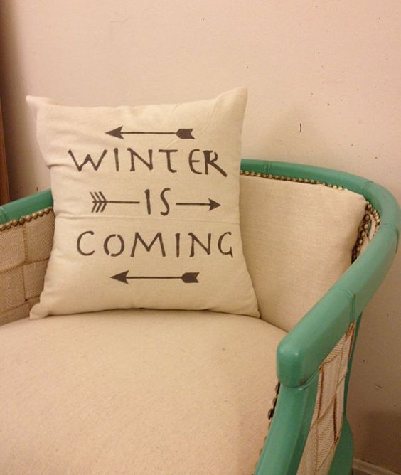 print a usual pillow with the famous Stark motto