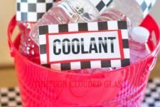 09 water bottles with coolant labels for racers