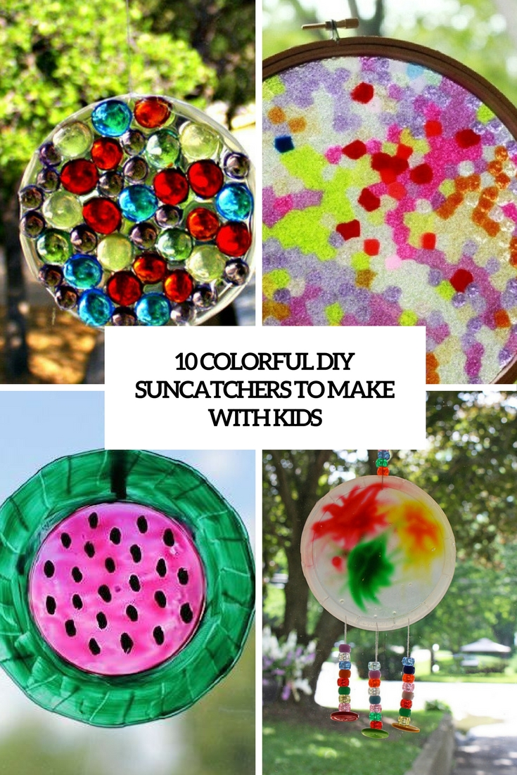 colorful diy suncatchers to make with kids cover