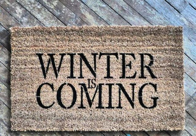 have the Stark motto at your doorstep with such a rug