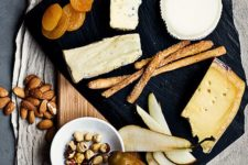 11 black marble serving board will make any food stand out