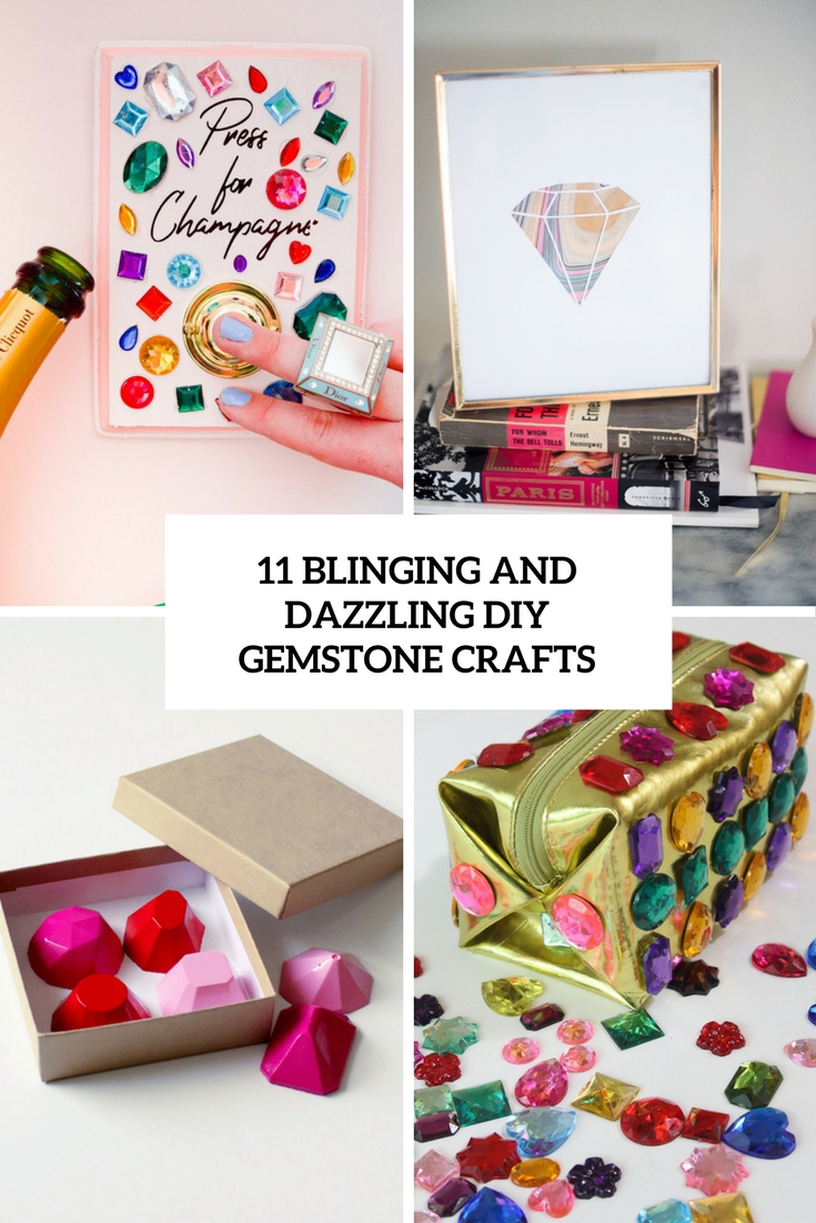 blinging and dazzling diy gemstone crafts cover