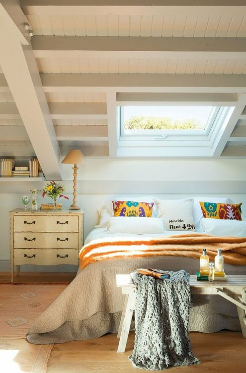 a skylight instead of a usual window is a great way to look at the stars and sky