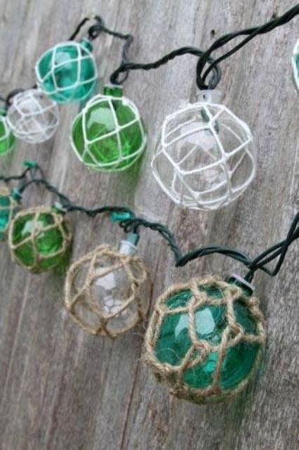 net float lights are a great idea for a seaside home terrace or party