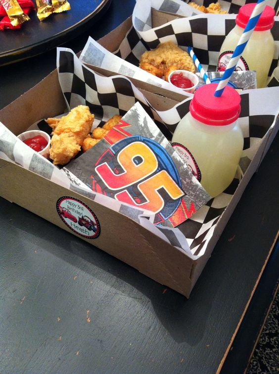 Cars movie themed box dinners for every kid