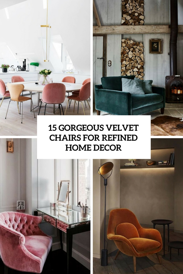 gorgeous velvet chairs for refined home decor cover