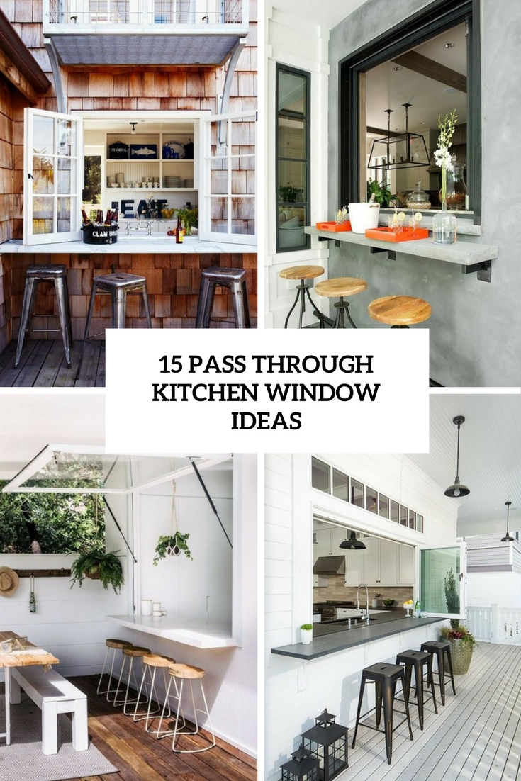 15 Pass Through Kitchen Window Ideas