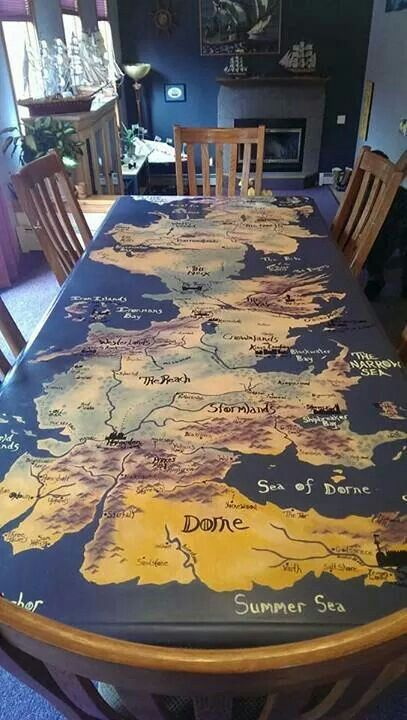 spruce up your dining table with a whole G.O.T. map on it