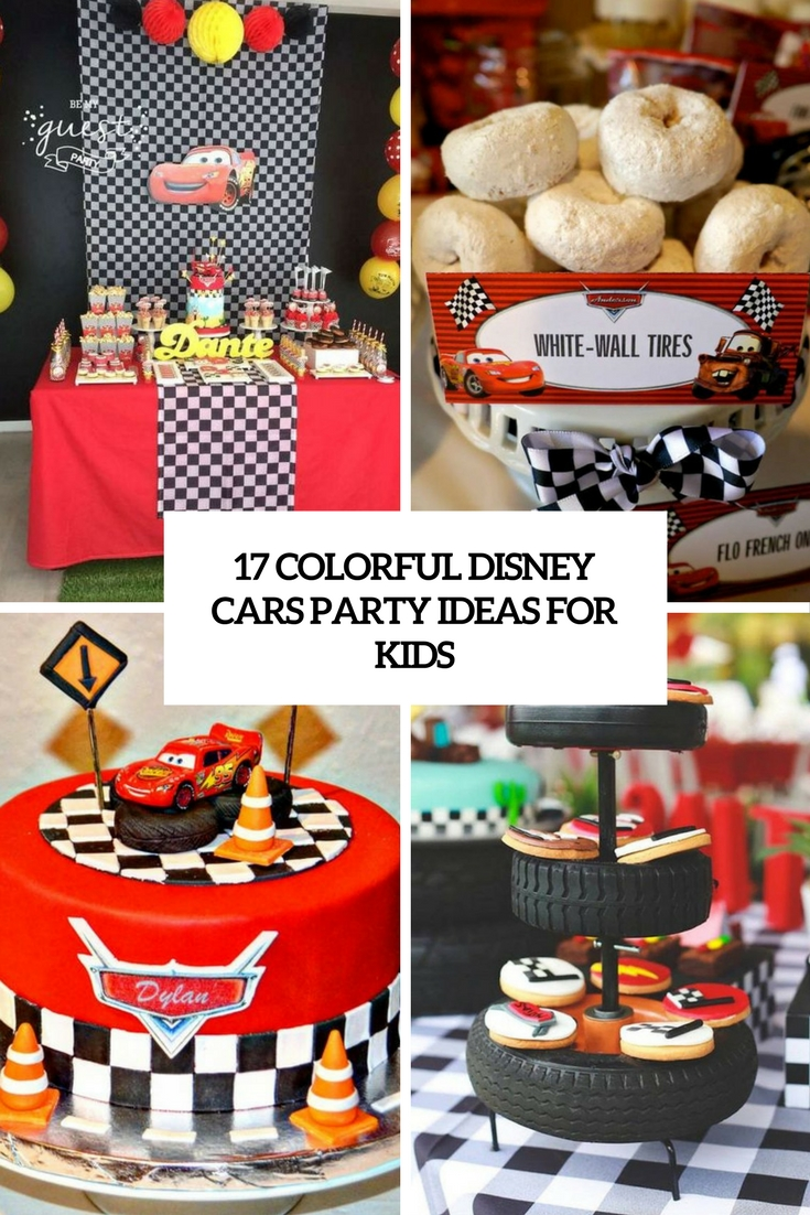colorful disney cars party ideas for kids cover