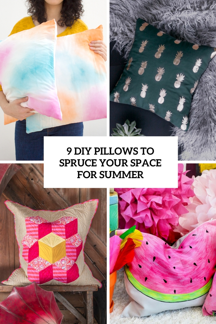 9 DIY Pillows To Spruce Up The Space For Summer
