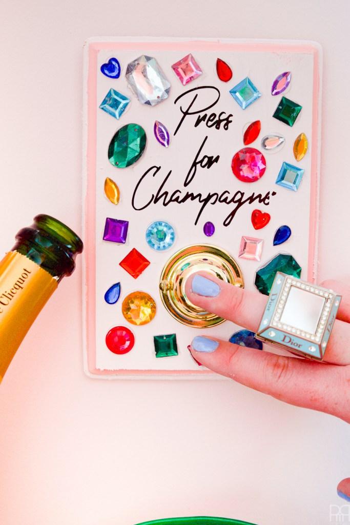 DIY champagne buzzer (via www.pmqfortwo.com)