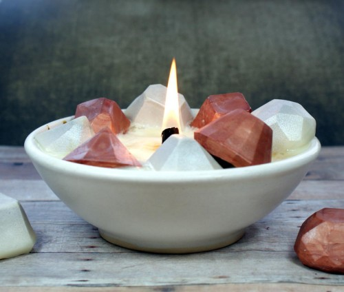 DIY gemstone candles