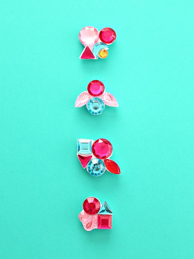 DIY gemstone magnets