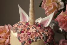 DIY cutest pastel unicorn cake