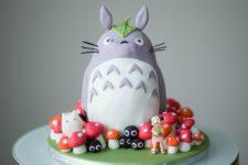 DIY Totoro birthday cake