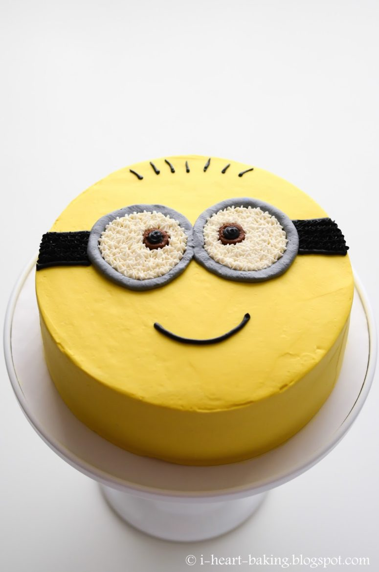 Minion Cake With Buttercream Frosting