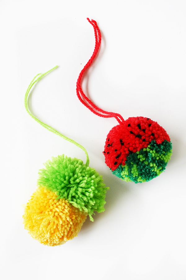 DIY fruity pompoms (via https:)