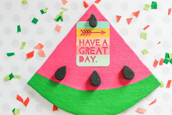 DIY Foam Watermelon Memo Board Via Thecasualcraftlete