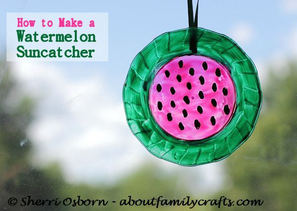 DIY watermelon suncatcher (via aboutfamilycrafts.com)