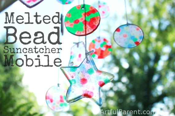 DIY melted bead suncatcher mobile (via artfulparent.com)