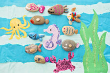 DIY rock fish craft