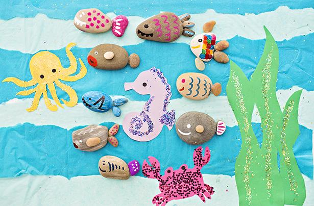 DIY rock fish craft (via www.hellowonderful.co)