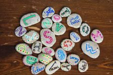 DIY colorful alphabet rocks