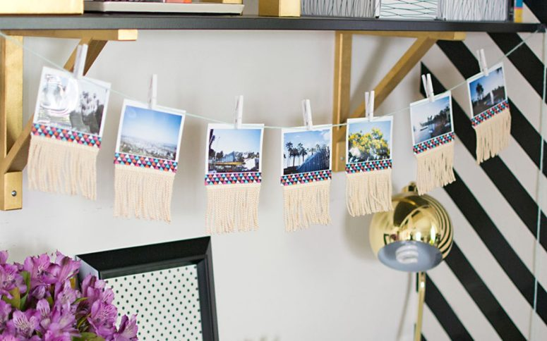 DIY fringe and washi tape garland (via https:)
