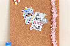 DIY plaster washi tape push pins