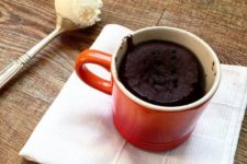 DIY dairy free chocolate mug cake
