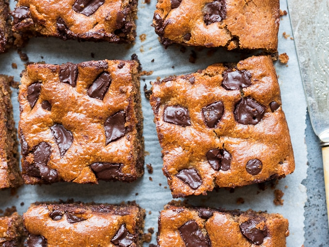 DIY dairy free chocolate almond butter bars